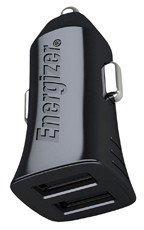 Ładowarka Samochodowa Energizer 2xUSB Czarna (DCA2BHMC3) + Kabel microUSB