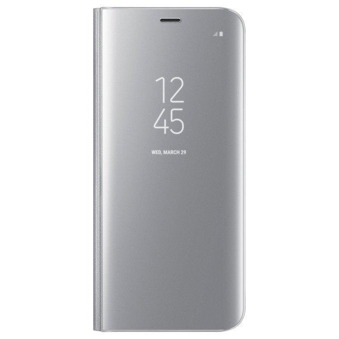 Etui Clear View cover do Galaxy S8+ Srebrne (EF-ZG955CSEGWW)