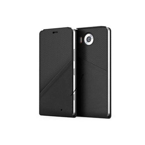 Etui Mozo Note Flip Cover Czarny do Lumia 950