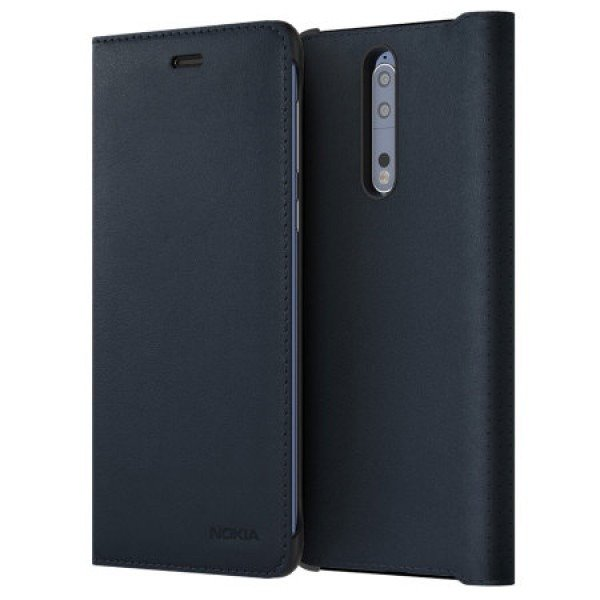 Etui Nokia Leather Flip Cover CP-801 Granatowe do Nokia 8