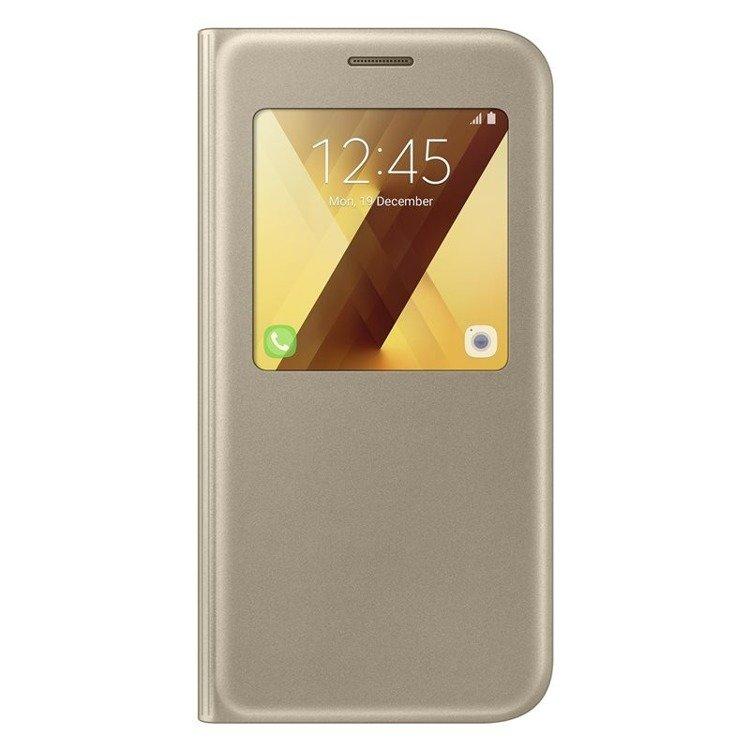 Etui Samsung S View Standing Cover Złote do Galaxy A5 (2017) EF-CA520PFEGWW