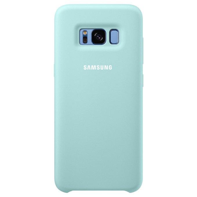 Etui Silicone Cover do Galaxy S8 Niebieskie (EF-PG950TLEGWW)